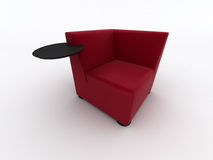 Modern red armchair Stock Image