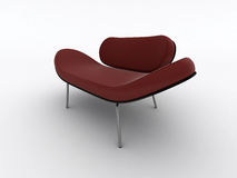 Modern red armchair Stock Photo