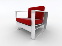 Modern red armchair Royalty Free Stock Photos