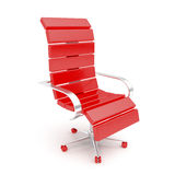 Modern red armchair Royalty Free Stock Photo