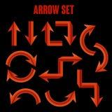Modern red arrow set royalty free illustration