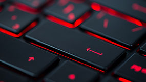 Modern red backlit keyboard, concept Stock Images