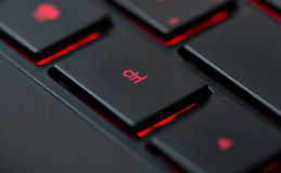 Modern red backlit keyboard Stock Images