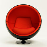 Modern red ball chair isolated on white background royalty free illustration