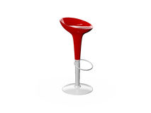 Modern Red Bar Chair. Isolated on white background Royalty Free Stock Photography
