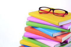 Modern red and black fashion eye glasses and color stock image