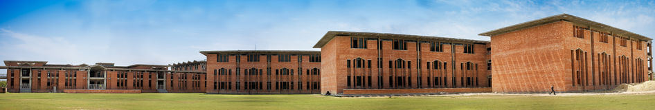 Modern red brick building Royalty Free Stock Photo