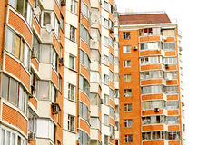 The modern red brick building. In the city Royalty Free Stock Photography