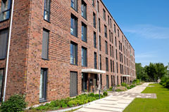 Modern red brick buildings Stock Images
