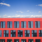 Modern red building Stock Photos