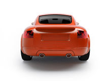 Modern red car back view Royalty Free Stock Images
