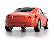 Modern red car back view Royalty Free Stock Photo