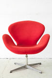 Modern Red Chair Stock Photography