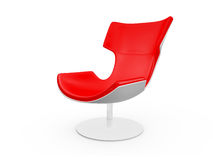 Modern Red Chair. Isolated on white background Royalty Free Stock Image