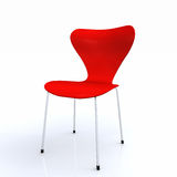 Red chair. A modern red chair on a white background Stock Photography