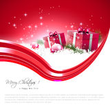 Modern red Christmas background Stock Images