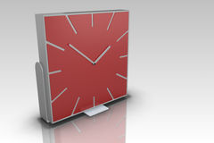 Modern red clock Royalty Free Stock Photography
