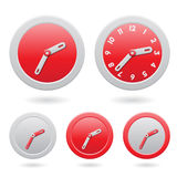 Modern Red Clocks  on White Royalty Free Stock Image