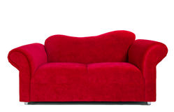 Modern red cloth sofa Stock Photography