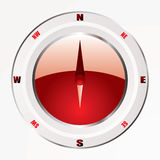 Modern red compass Stock Photos