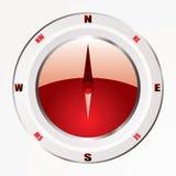 Modern red compass Stock Photos