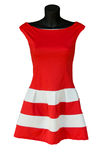 Modern red dress Stock Photography