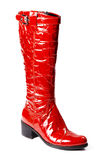 Modern red female boots Stock Photo