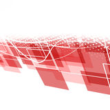 Modern red geometric background Stock Images