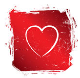 Modern red grunge heart, vector Stock Photo