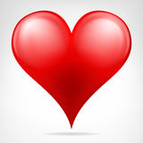 Modern red heart icon isolated vector Stock Photography