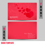 Modern red icon heart Valentines day concept Business-Card Set.  Royalty Free Illustration