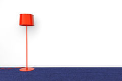 Modern Red lamp Stock Images