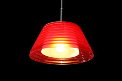 Modern red lamp Royalty Free Stock Images
