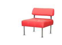 Modern red leather chair isolated Stock Photography