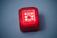 Modern red led dice Stock Images
