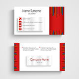 Modern red light business card template Stock Photos