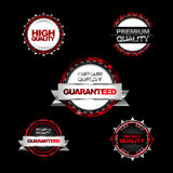 Modern red metal labels Royalty Free Stock Images