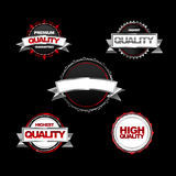 Modern red metal labels Stock Image
