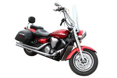 Modern red motorcycle. Stock Photography