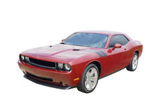 Modern red muscle car Royalty Free Stock Photo