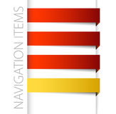 Modern red navigation items in right bar. On white background (vector Stock Image
