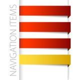 Modern red navigation items in right bar vector illustration