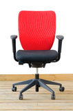 Modern red office chair Stock Photos