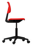 Modern red office chair Royalty Free Stock Photos