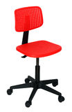 Modern red office chair Stock Images