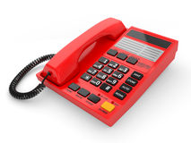 Modern red office telephone Stock Image