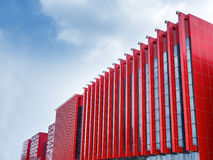 Modern red outer wall Stock Photo