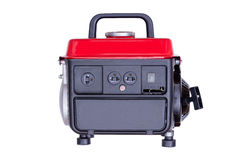 Modern red petrol powered generator Stock Photos