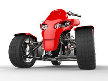 Modern red quad bike - front view extreme closeup shot Royalty Free Stock Photos