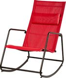 Modern red rocking chair on white backgroundgreen royalty free stock image